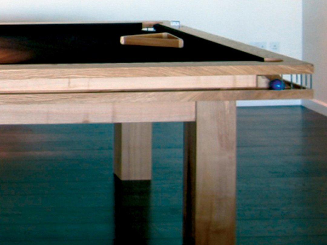 Contemporary design 10ft Olive Ash Billiard table