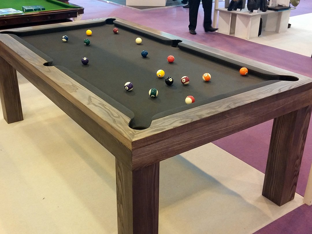 BentleySpur7ftGrey3 Pool table dining table