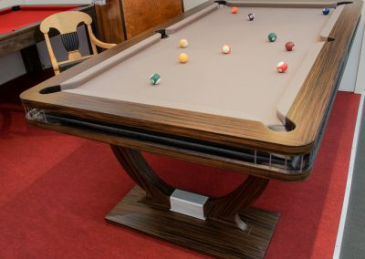 Pinstripe Continental BR bespoke Pool table