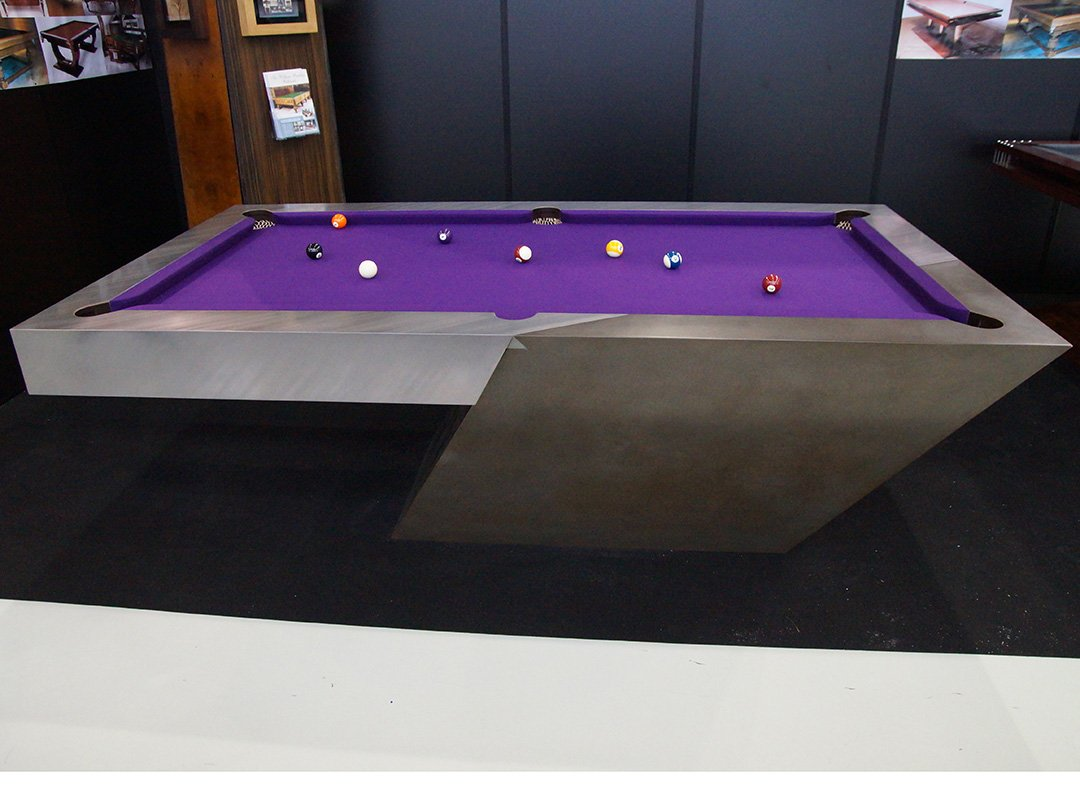 Modernist Bi-Metallic UK/US Pool table