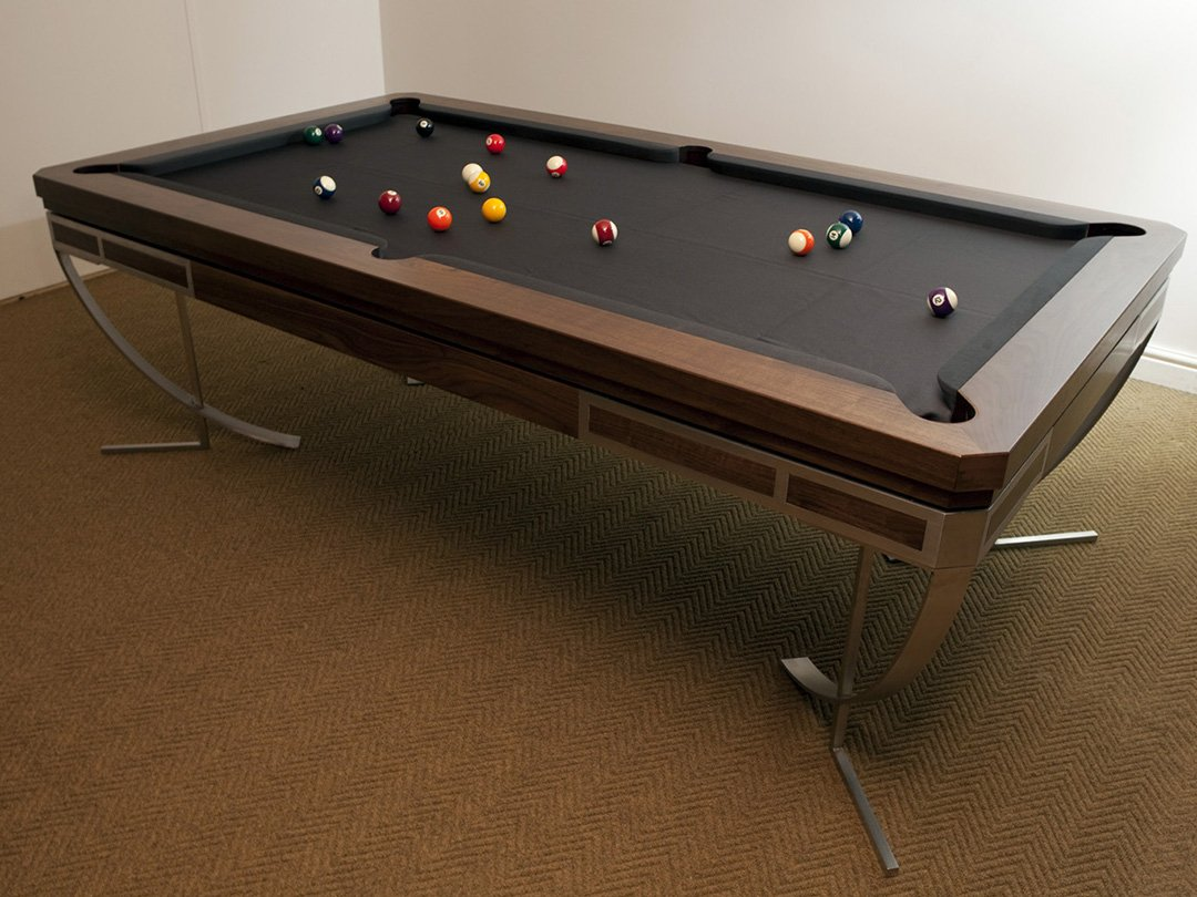 Ultra contemporary American black walnut Snooker / Pool dining table