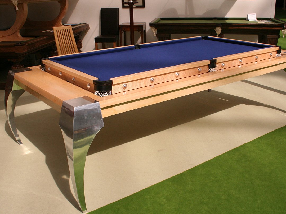 Walnut rollover Pool / dining table 8ft,9ft,10ft. Burr walnut veneer.