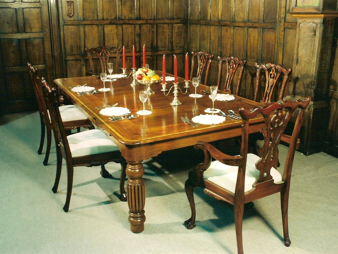 Mahogany dual purpose rollover dining table