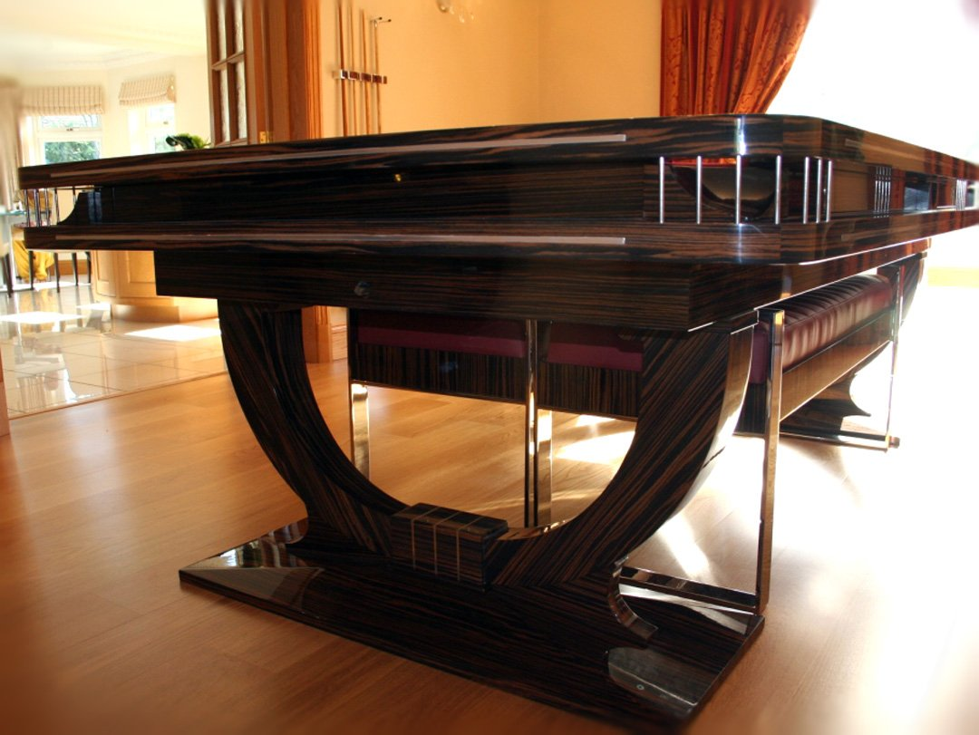 Macassar Continental Ball-Runner Snooker-Dining table