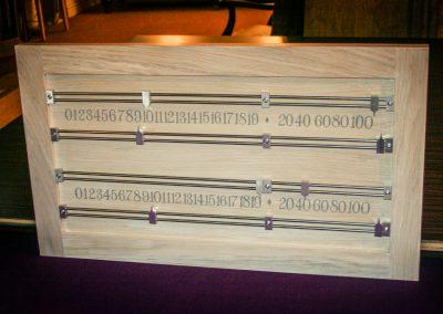 Bespoke Snooker Scoreboard handmade Limed-Oak