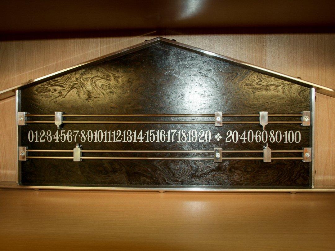 Pediment Scoreboard Black-Burr and metal