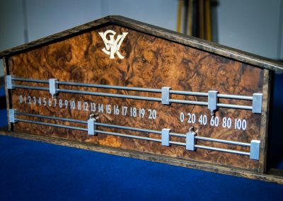 Signature Grey-Burr Snooker Scoreboard