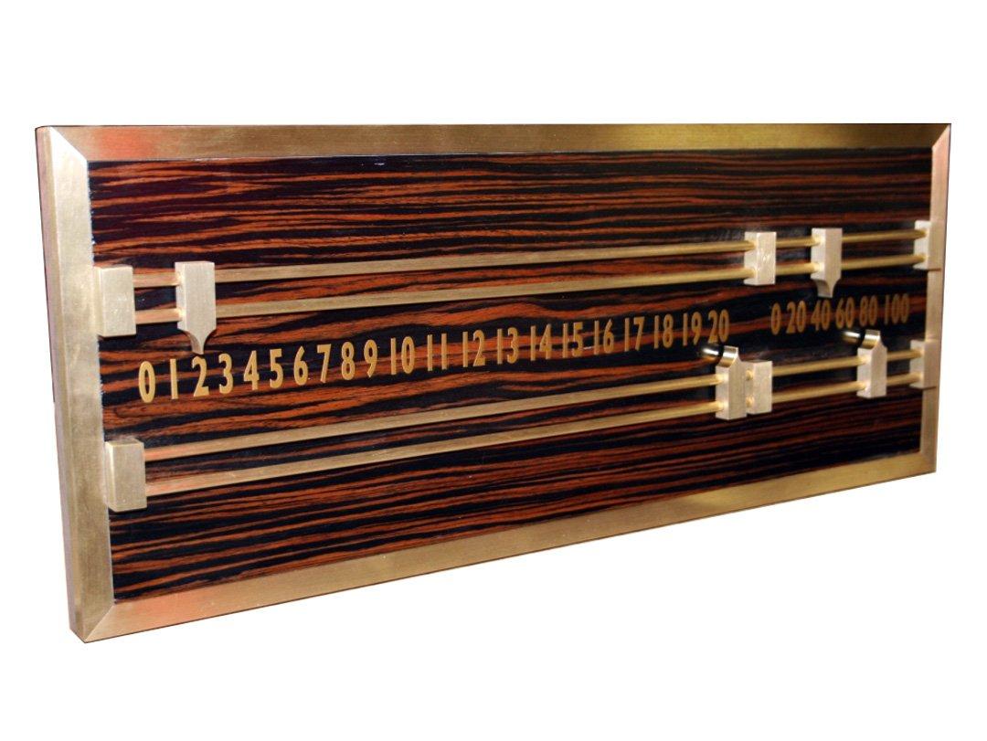 Macassar and Brass Snooker Scoreboard