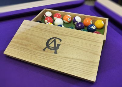 Oak Inlaid Pool Ball Box
