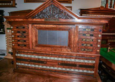 Orme-Burr-Walnut-Antique-Scoreboard-Marker-c1896