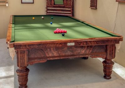Orme at OlymOrme-antique-billiard-table-c1886-at-Olympia