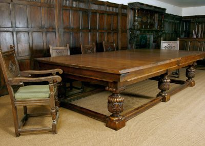 Refectory-Snooker-Dining-table-Jacobean-Oak