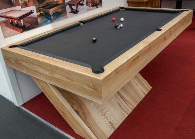 Cantilever - Bespoke 8ft Pool table - Olive Ash - Charcoal cloth
