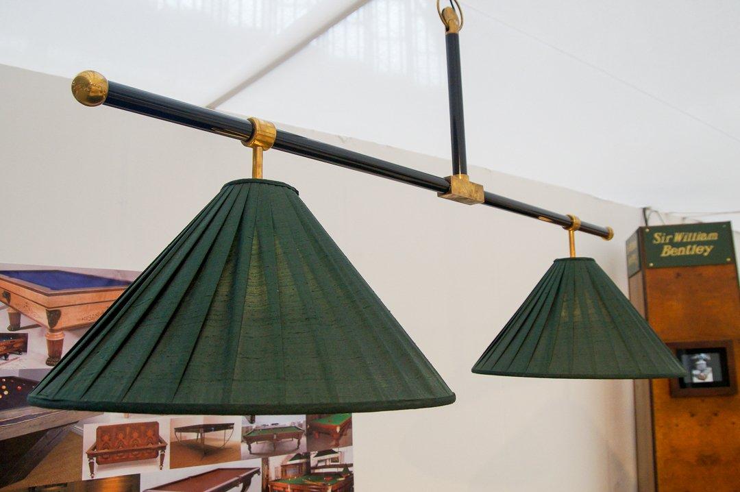 T-Bar Billiard light - Black and Brass