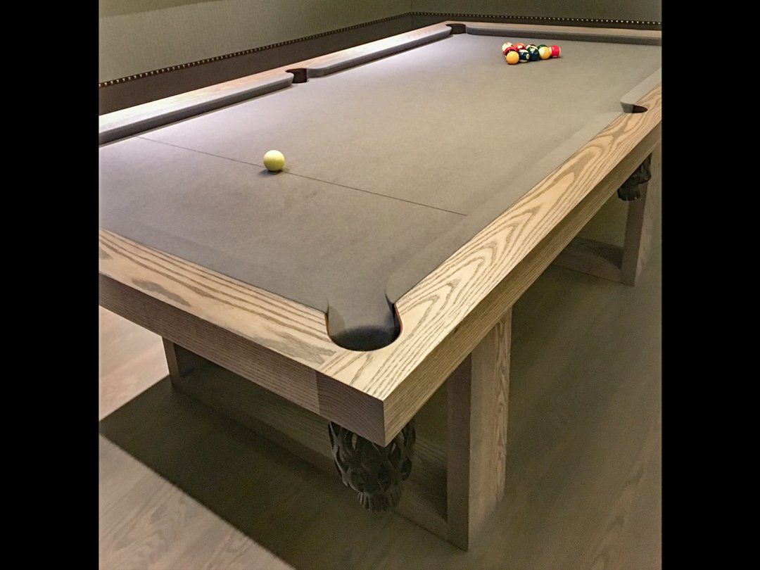 Camargue 8ft Pool-table-Black-washed Ash