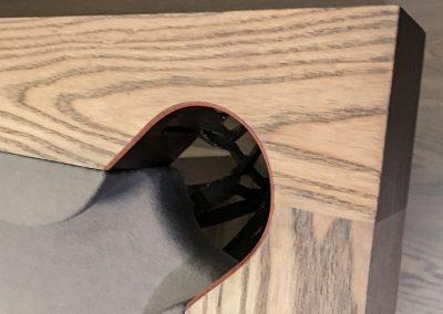 Camargue-8ft-Pool-table-Black-washed-Ash-detail
