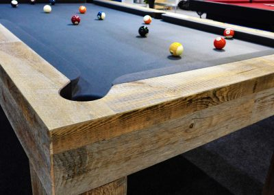 Bentley Spur bespoke driftwood pool table - Charcoal cloth
