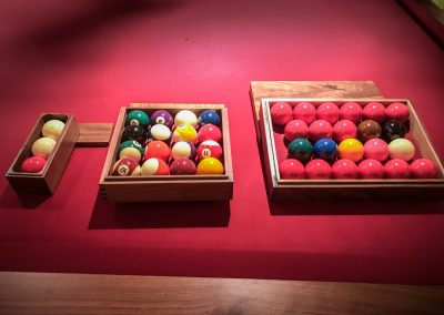 Walnut Ball-boxes Billiards Pool Snooker