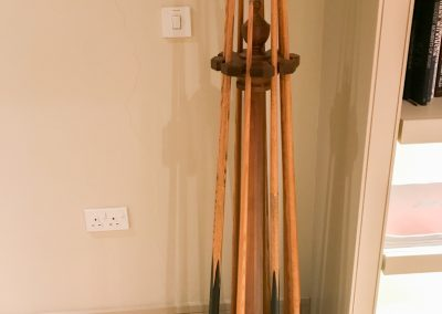 Walnut Pediment Snooker Cue-rack
