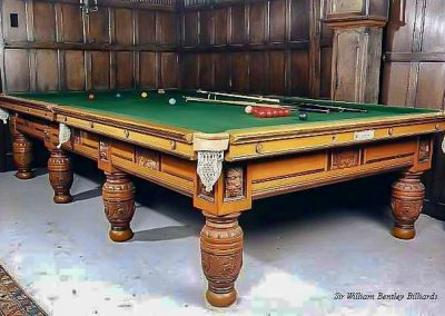 The Green Man Antique Oak billiard table