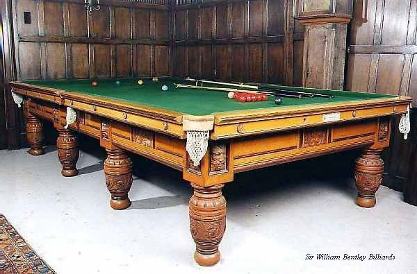 Burroughes & Watts Green Man Antique full-size Oak Billiard table