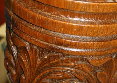 Green Man Billiard table Carving detail-3