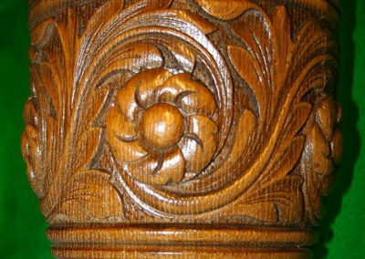Green Man Billiard table Carving detail-2