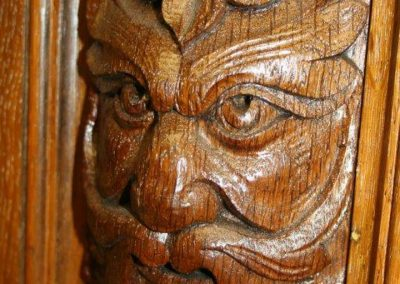 Green Man Billiard table Carving detail-1