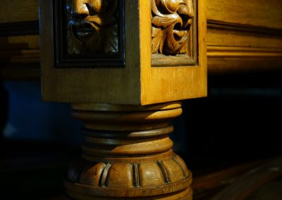 Green Man billiard table leg