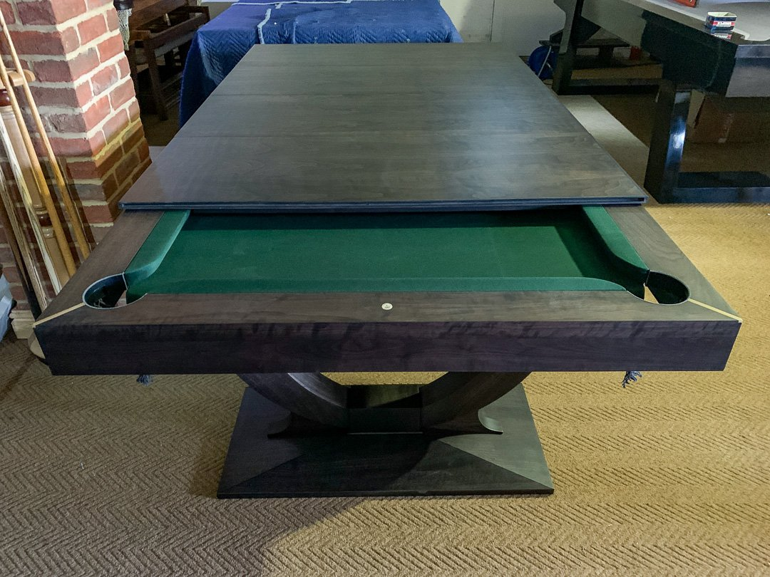 Continental Empire wind-up pool dining table. In Stock