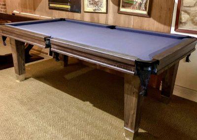 Slim-Lauren leg 7ft Pool table in grey washed Ash